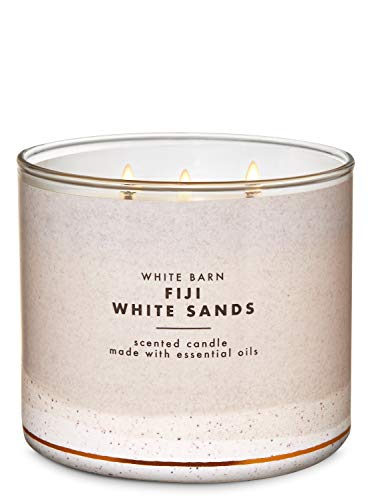 Bath & Body Works - White Barn Scented 3 wick Candle, Fiji White Sands