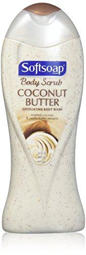 Softsoap - Body Butter Coconut Scrub, Body Buff Wash