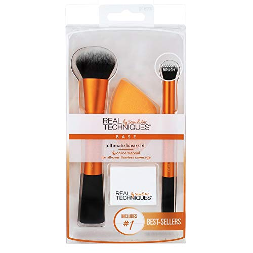 Real Techniques - Real Techniques Ultimate Base Set with Face Brush, Miracle Sponge, Concealer Brush and Sponge Stand