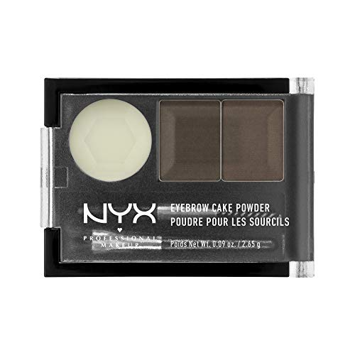 NYX - NYX Eyebrow Cake Powder, Dark Brown/Brown