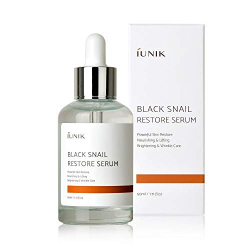 Iunik - iUNIK Black Snail Restore Serum 50ml/1.71 fl.oz. with MAKEP:REM Safe me. Relief moisture cream mini