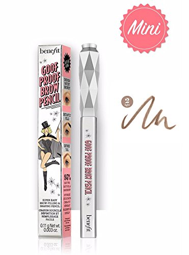 Benefit - benefit goof proof brow grow super easy brow filling and shaping pencil travel size - 02 Light 0.11 g / 0.003 oz by Benefit Cosmetics
