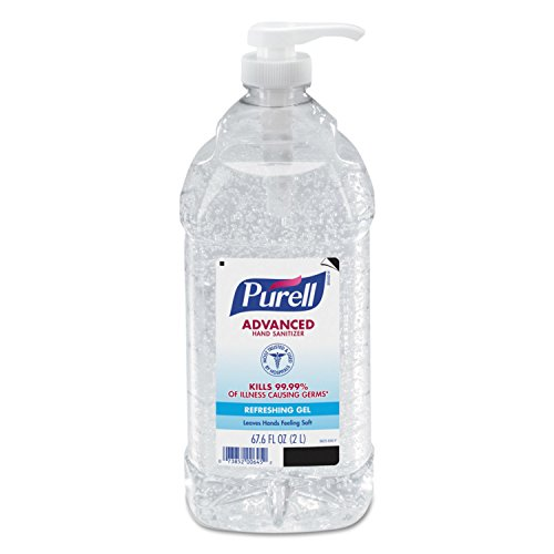 Purell - PURELL Advanced Hand Sanitizer, Refreshing Gel, 2 Liter Hand Sanitizer Table Top Pump Bottles (Pack of 2) - 9625-02-EC