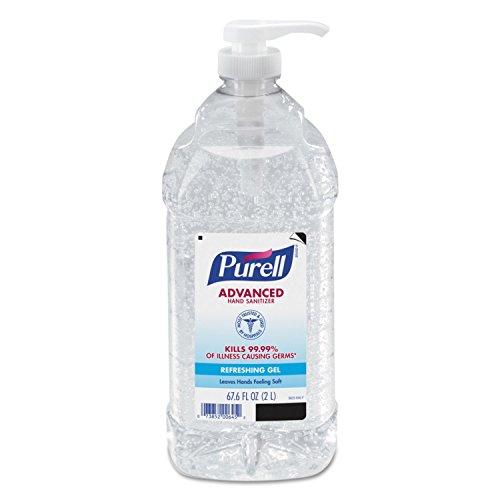 Purell - PURELL Advanced Hand Sanitizer, Refreshing Gel, 2 Liter Hand Sanitizer Table Top Pump Bottles (Pack of 2) - 9625-02-EC