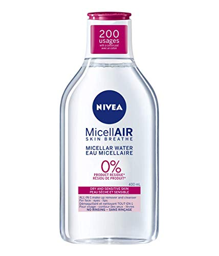 Nivea Nivea MicellAIR Water For Dry And Sensitive Skin Make-Up Remover, 400 ml
