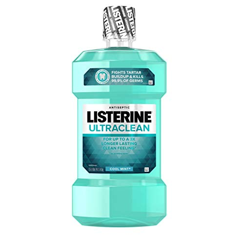 Listerine - Listerine Ultra Clean Cool Mint Mouthwash, 50.7 Ounce (Pack of 6)