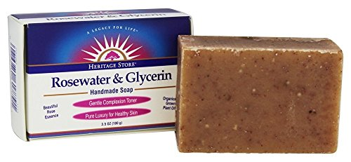 Heritage Store Rosewater & Glycerin Soap, 3.5 oz by Heritage Products