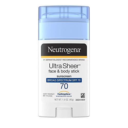 Neutrogena - Neutrogena Sunscreen Ultra Sheer Stick SPF 70, 1.5 Ounce - 2 Pack