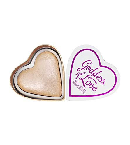 Makeup Revolution - Blushing Hearts Triple Baked Highlighter, Goddess of Love