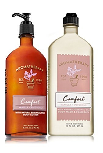Bath & Body Works - Bath & Body Works COMFORT - Vanilla & Patchouli Body Wash & Foam Bath and Lotion Set