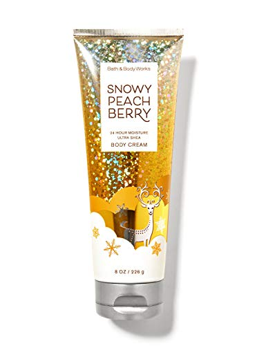 White Barn Bath Body Works Bath and Body Works Snowy Peach Berry Body Cream 8 Ounce Ultra Shea