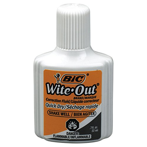 Bic - BICWOFQD12WE - BIC Wite-Out Quick Dry Correction Fluid
