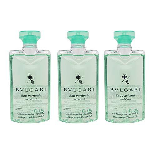 BVLGARI - Bvlgari Au The Vert (Green Tea) Shampoo and Shower Gel Set of 3, 2.5 Fluid Ounce Bottles