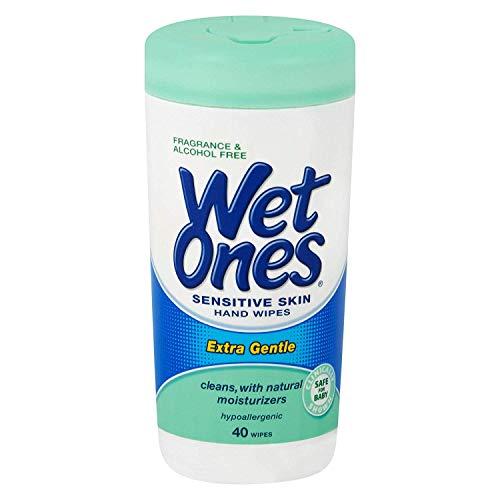 Playtex Playtex Wet Ones Sensitive Skin Hands Wipes, 40 Count Wipes (Pack of 6)