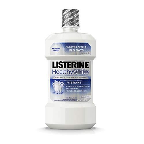 Listerine Listerine Healthy White Anticavity Fluoride Mouthwash Clean Mint, 32 fl. oz.