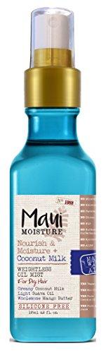 Maui Moisture Maui Moisture Oil Mist Coconut Milk 4.2 Ounce (Nourish/Moisture) (125ml) (3 Pack)