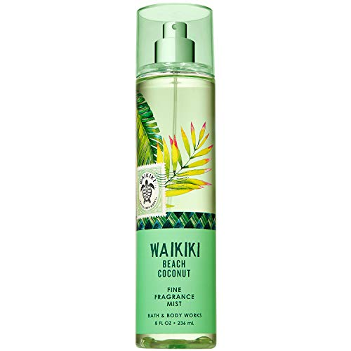 Bath & Body Works - Bath and Body Works WAIKIKI - BEACH COCONUT Fine Fragrance Mist 8 Fluid Ounce (2019 Edition)