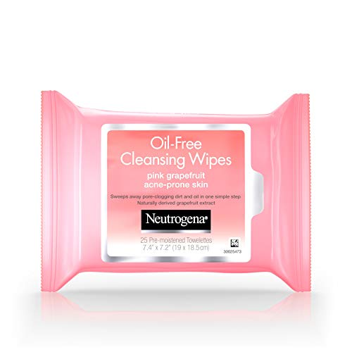 Neutrogena - Neutrogena Oil-Free Cleansing Wipes Pink Grapefruit - 25 ct, Pack of 6