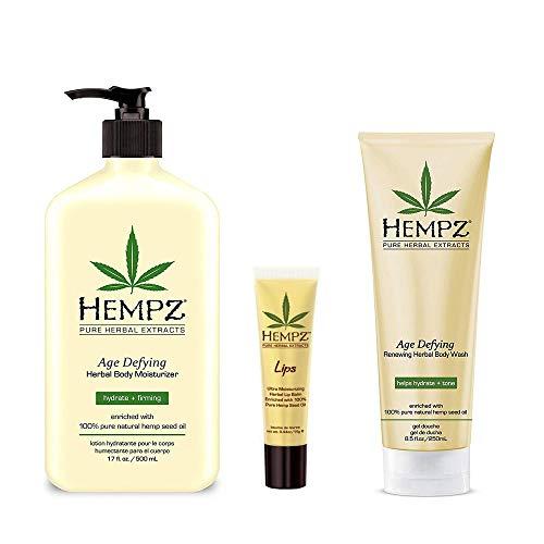 Hempz - Lotion Age Defying Moisturizer, Body Wash, Herbal Lip Balm