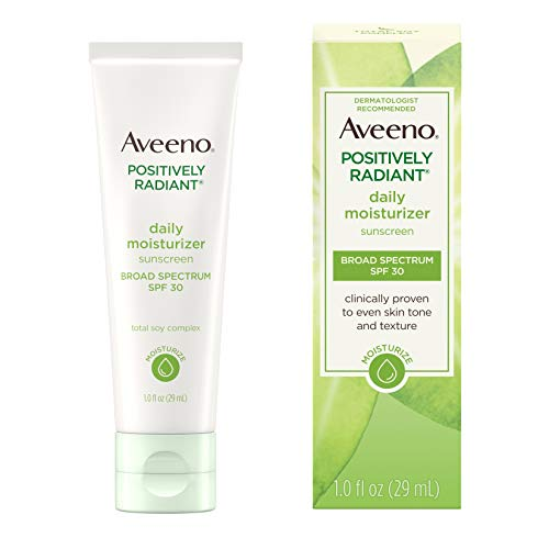 Aveeno - Aveeno Positively Radiant Daily Facial Moisturizer with Total Soy Complex and Broad Spectrum SPF 30 Sunscreen 1 oz
