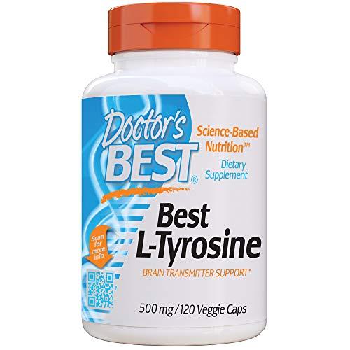 Doctor's Best - Doctor's Best L-Tyrosine, Healthy Brain Function, Amino Acid, Healthy Glandular Function, Non-GMO, Gluten Free, 120 VC