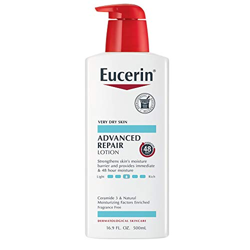 Eucerin - Eucerin Advanced Repair Lotion - Fragrance Free, Full Body Lotion for Very Dry Skin - 16.9 fl. oz. Pump Bottle