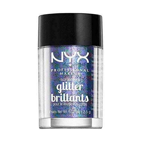 NYX - NYX PROFESSIONAL MAKEUP Face & Body Glitter, Violet, 0.08 Ounce