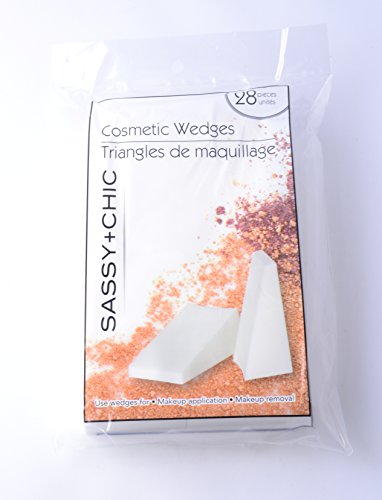 Eve + Belle - Sassy + Chic Professional Cosmetic Makeup Wedges (Pack of 28)