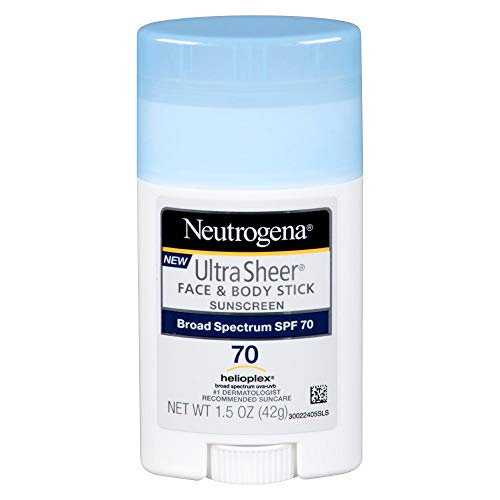 Neutrogena - Neutrogena Ultra Sheer Sunscreen, Face & Body Stick, Broad Spectrum SPF 70, 1.5 oz (Pack of 2)