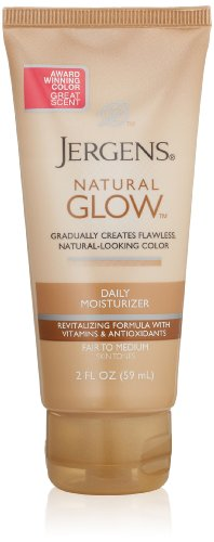 Jergens - Jergens Natural Glow Revitalizing Body Lotion, Medium Shade, Trial Travel, 2 Fl Oz
