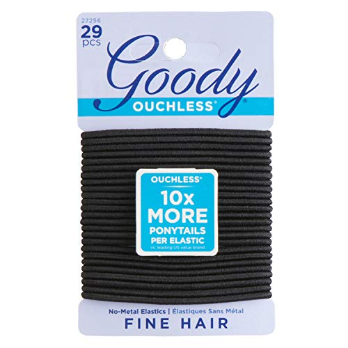 Goody - Goody Women's Ouchless 2 mm Elastics, Black, 29 Count