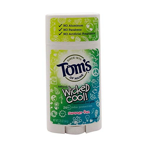 KT Travel - Toms of Maine Natural Wicked Cool Deodorant for Girls Summer Fun 2.25 oz (Pa...