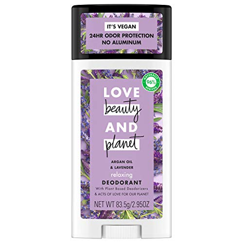 Love, Beauty & Planet - Aluminum-free Deodorant, Argan Oil and Lavender