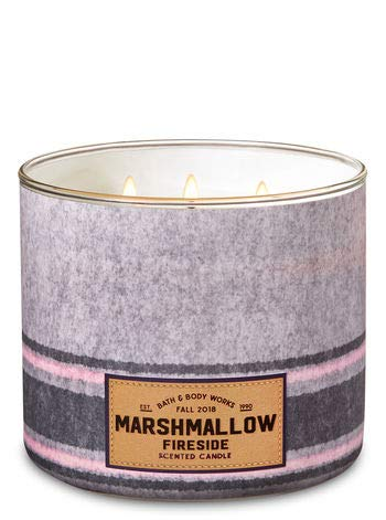 White Barn - White Barn Bath and Bodyworks 3-Wick Candle Marshmellow Fireside Fall 2018 Edition