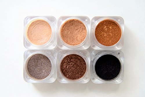 Naked Cosmetics Mica Power Pigments (6 Colors) Eye Shadow, Eye Liner, Lip Stick, Blush, Bronzer and - Naked Cosmetics Mica Power Pigments (6 Colors) Eye Shadow, Eye Liner, Lip Stick, Blush, Bronzer and Much More! (Sierra Nevada)