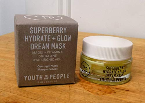 Youth to the People - Superberry Hydrate + Glow Dream Overnight Mask 0.5 fl oz Sample Size Maqui + Vitamin C Squalane Hyaluronic Acid