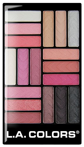L. A. Colors - 18 Color Eyeshadow Palette, Diva Glam