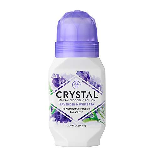 Crystal - Crystal Essence Mineral Deodorant Roll-On, Lavendar & White Tea 2.25 oz (Pack of