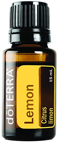 Doterra - doTERRA - Lemon Essential Oil - Supports Healthy Respiratory Function, Energized and Positive Mood, Refreshing Natural Cleansing and Digestive Benefits; For Diffusion, Internal, or Topical Use - 15 ml