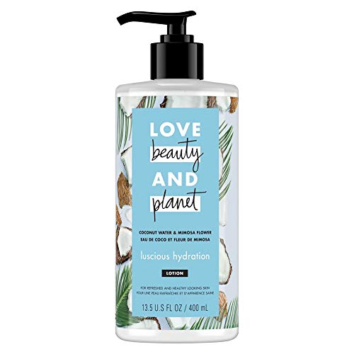 Love, Beauty & Planet - Coconut Water & Mimosa Flower Body Lotion, Luscious Hydration