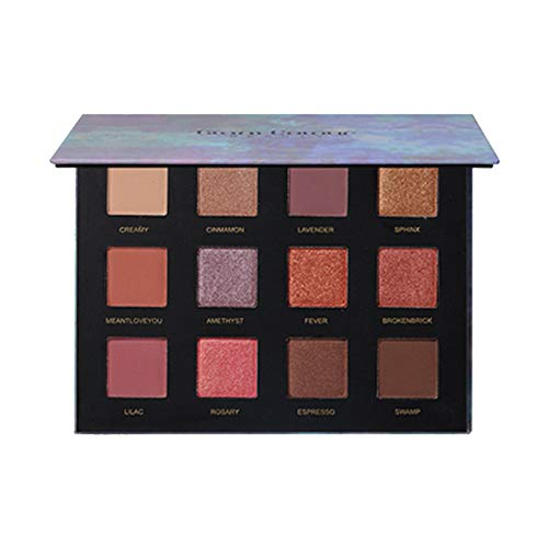 RNTOP_Beauty&Makeup - Eye Shadow- 12 Colors Belonging Pigmented Eyeshadow Makeup Palette, 5 Matte and 7 Shimmer Blending Eye Shadow, Waterproof Long Lasting Powder Make Up Set (Blue)