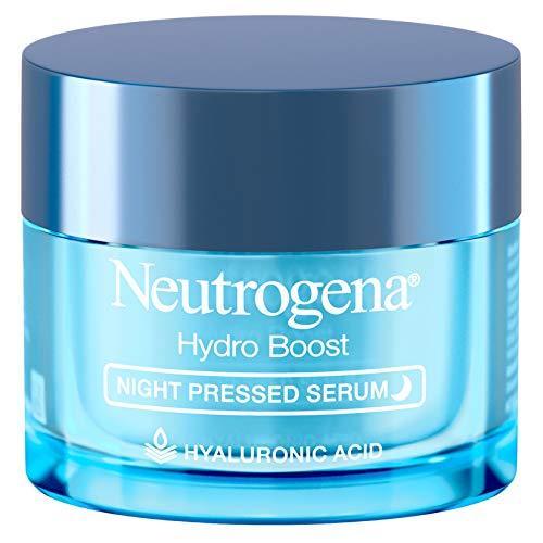 Neutrogena - Neutrogena Hydro Boost Purified Hyaluronic Acid Pressed Night Serum, Facial Serum with Antioxidants & Hyaluronic Acid for Dry Skin, Oil-Free & Non-Comedogenic, 1.7 oz