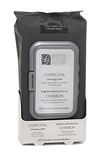 Global beauty care premium - Charcoal Cleansing Cloths 60 Wipes