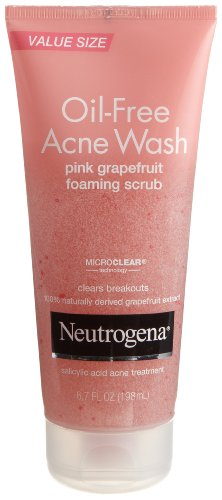 Neutrogena - Oil-Free Acne Wash Scrub, Pink Grapefruit