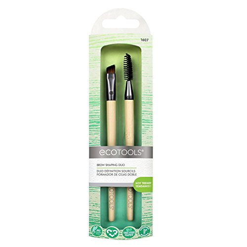 Ecotools - EcoTools Brow Shaping Duo Includes Angled Brush and Spoolie Brush to Create Defined Brow, Natural Brow, Boy Brow Looks