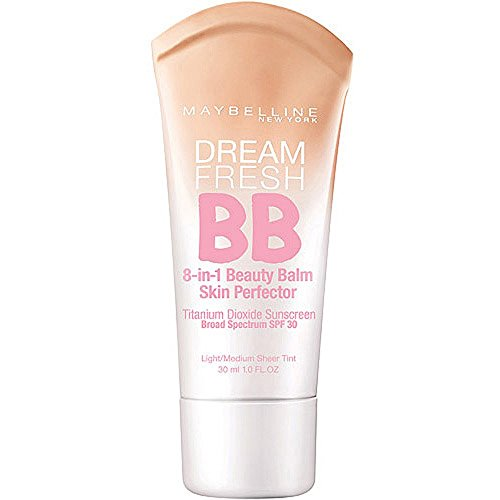 Maybelline - Maybelline Dream Fresh BB 8-in-1 Beauty Balm Skin Perfector SPF 30, Light/Medium, 1 oz (Pack of 5)