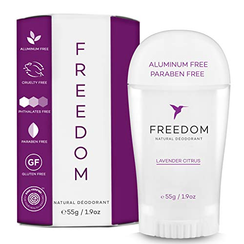 Freedom - Freedom All-Natural, Aluminum Free Deodorant For Men and Women That Works All Day (Lavender Citrus)