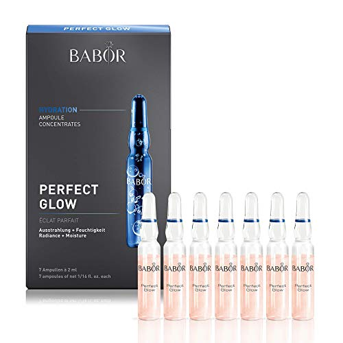 Babor - BABOR Perfect Glow Ampoule Serum Concentrates, Hyaluronic Acid Serum to Plump and Even Skin Tone, Protect from Environmental and Blue Light Damage to Brighten and Revitalize Dull and Dry Skin