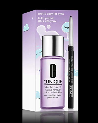 Clinique - Clinique Pretty Easy For Eyes Set: Quickliner For Eyes Intense in Intense Black and Take The Day Off Makeup Remover