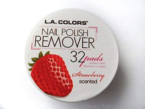 L. A. Colors - L.A. Colors Nail Polish Remover Pads, Strawberry, 32ct